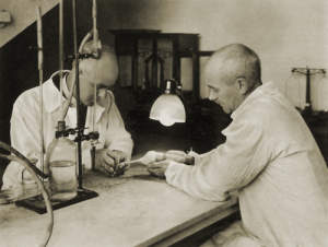 "Photograph of ""...And biological testing in animals."""