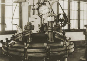 "Photograph of ""The products are dried in large vacuum ovens."""